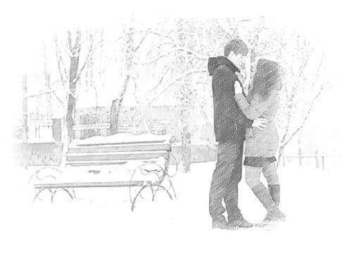 Una coppia che si trova grazie magari alla legge di attrazione in amore
