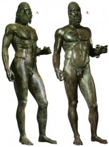Addominali bronzi di riace