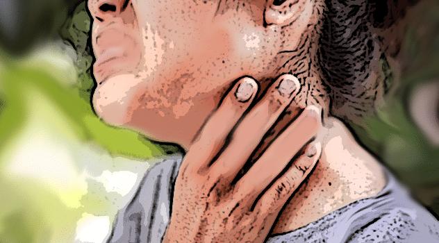 mostro persona con il nodo alla gola
